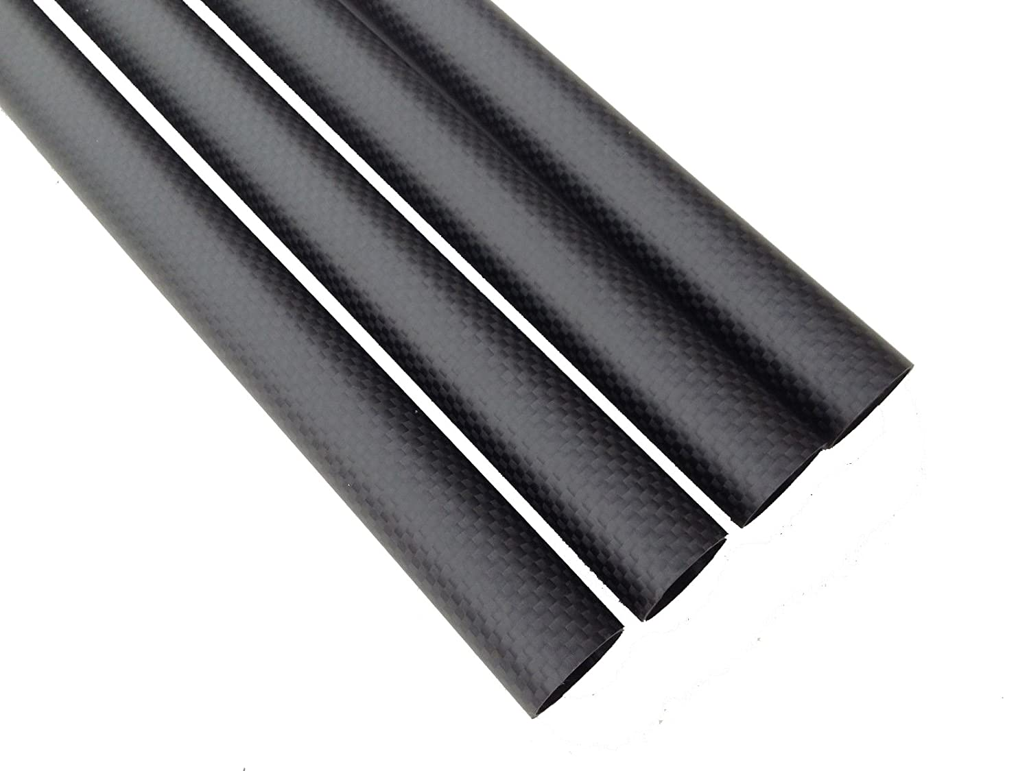 Abester Carbon Fiber Tube ID 7mm x OD 9mm x 500mm Long 3K Matt Surface