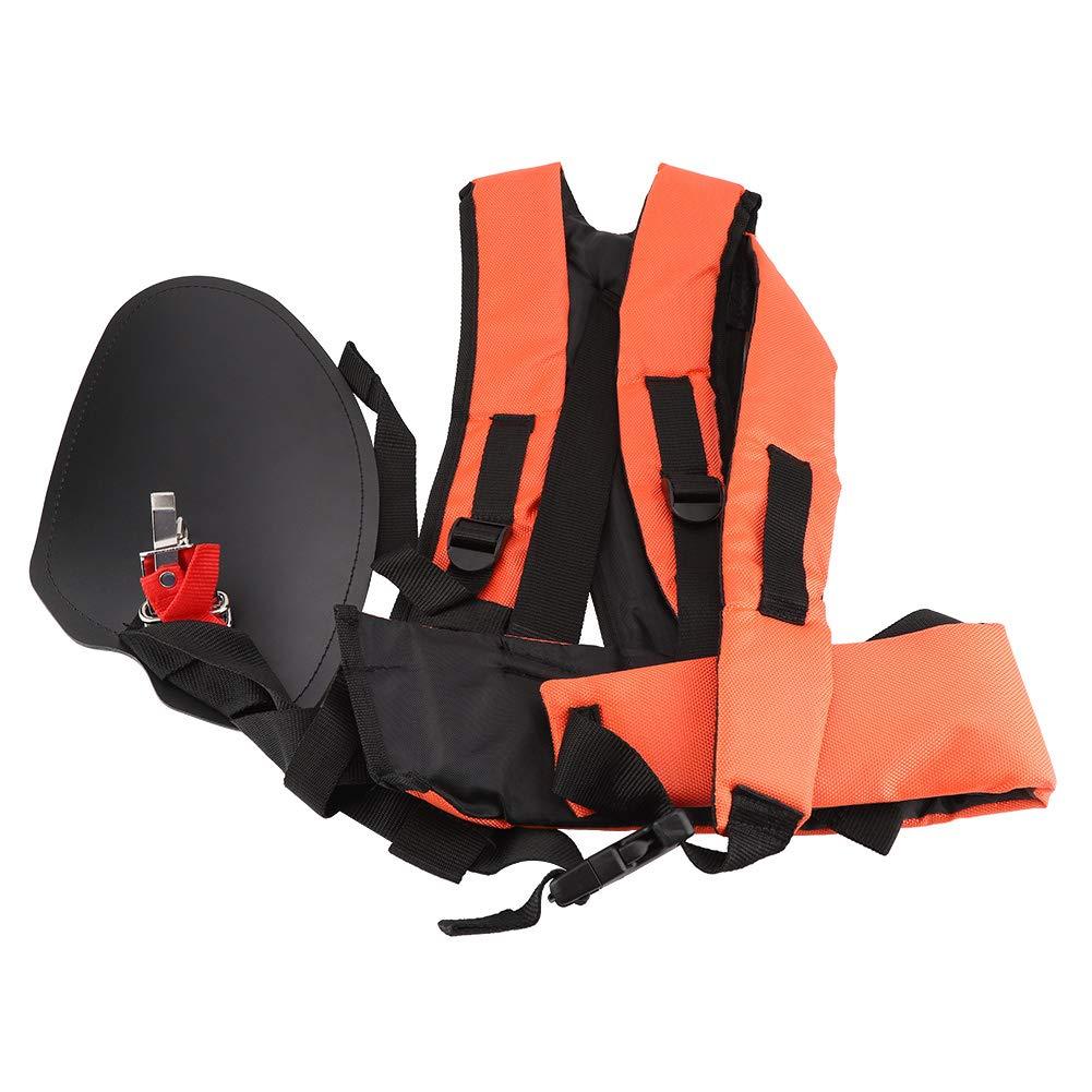 Trimmer Harness Strap, Universal Orange Trimmer Double Shoulder Strap Mower Nylon Y-shaped Belt for Brush Cutter Garden