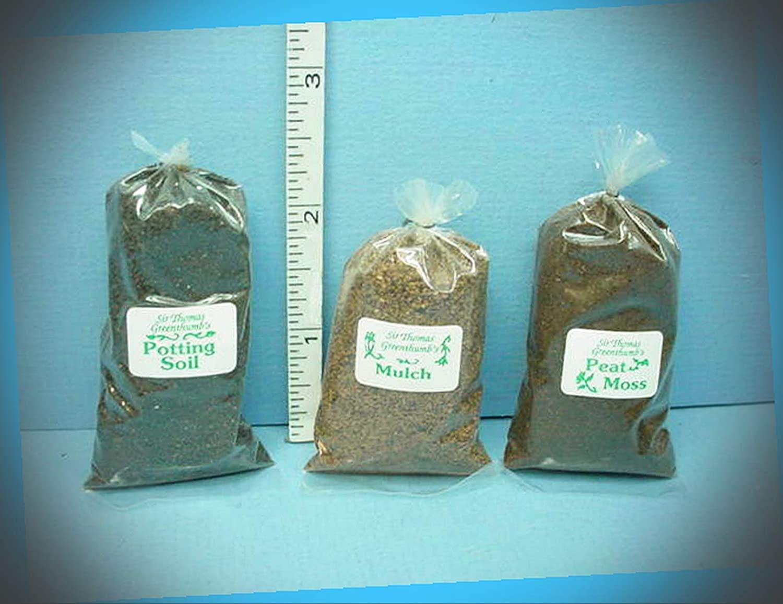 New Fairy Garden Miniature Mulch Potting Soil Peat Moss #CBR540 41 42 SirTom Thumb 1/12th Scale Dollhouse Magic Scene Supplies Accessories