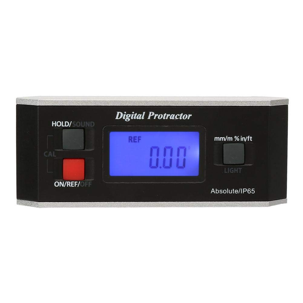 Digital Inclinometer, Digital LCD Magnetic V-Groove Protractor Angle Finder Level Inclinometer 4 x 90° Ruler Digital Angle Finder
