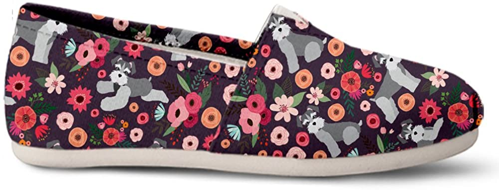 Gnarly Tees Schnauzer Flower Casual Shoes