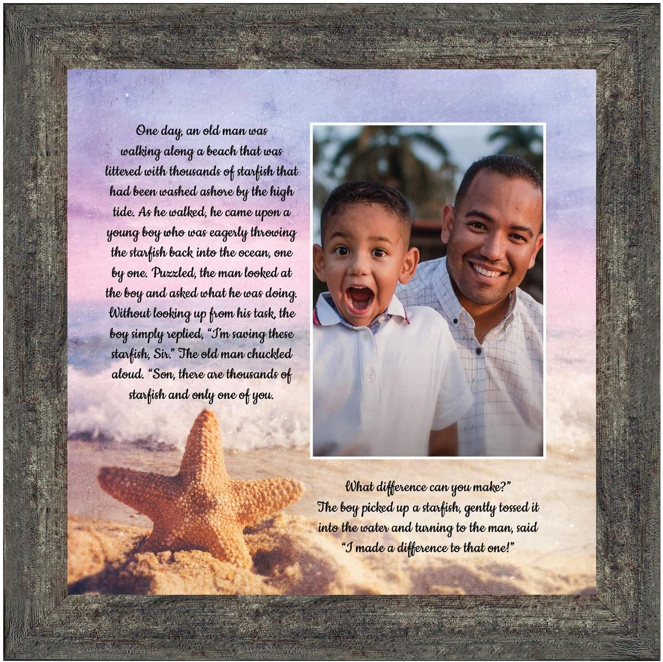 Crossroads Home Décor The Starfish Story, You Make a Difference, Ocean Decor, 6396BW