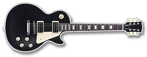 Magnet 2x6 inch Les Paul Guitar Shaped Bumper Sticker - Axe Rock Band Guitarist Gibson Magnetic Magnet Vinyl Sticker