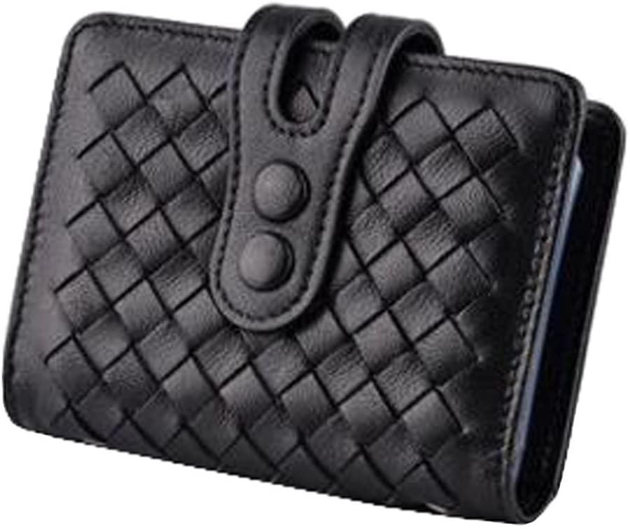 Unisex Stylish Card Holder Credit Card Organizer Name Card Case Wallet, Black