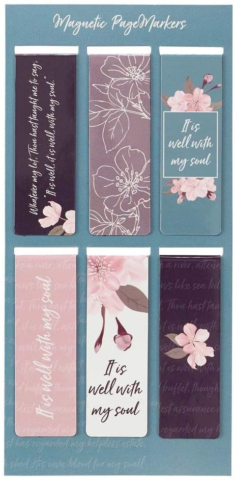 Bookmark-Pagemarker-Magnetic-It Is Well (Set Of 6)