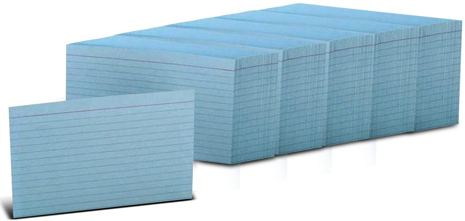 Esselte Oxford Index Card, Ruled, Blue, 4