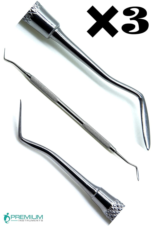 3× Superior Hollenback 3 Amalgam Restorative Detal Wax Modelling Carver Filling Instrument
