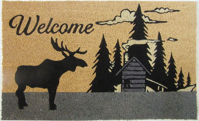 DOORMATS - Moose Lodge Coir Welcome MAT - 18