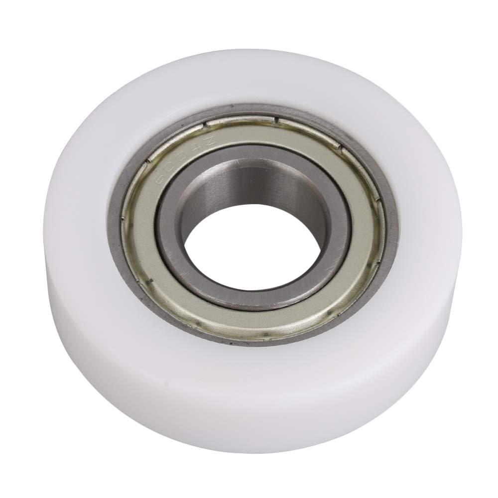 2x5.8x1.6cm 6004 POM Nylon Ball Bearing Guide Pulley Wheels Roller Pulleys