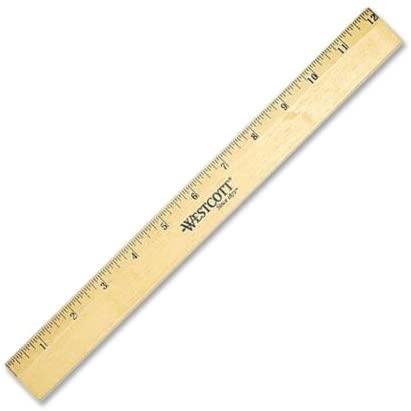 ACM05011 - Westcott Wood Ruler with Single Metal Edge