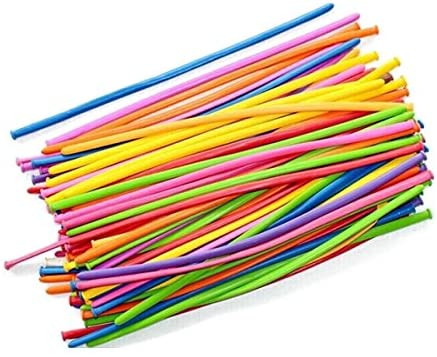 PIXNOR 100pcs Twisty Balloons 260Q Balloons Assorted Color