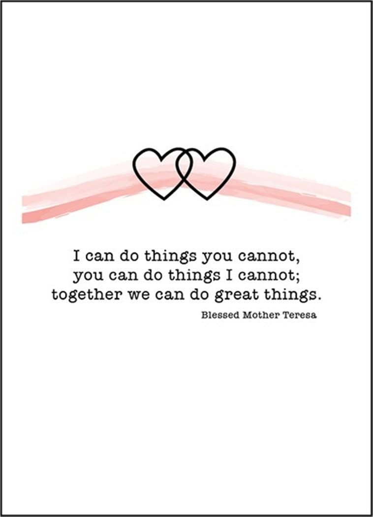 Pio Prints Brand Together We Can Do Great Things Wedding Anniversary Card with Envelope, 6 1/4 Inch
