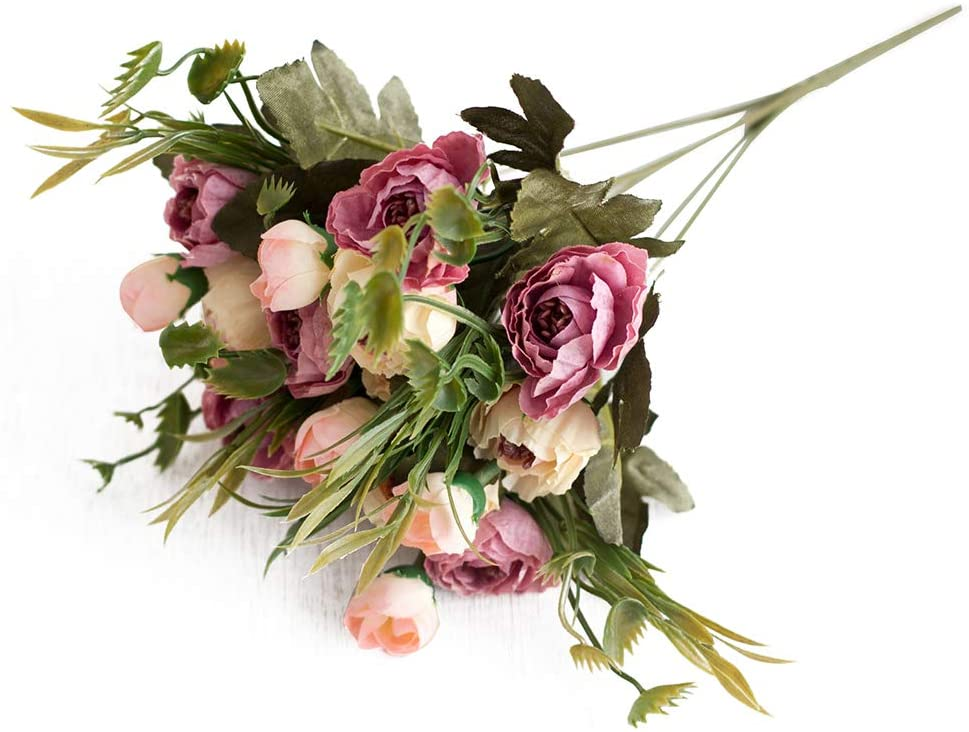 LOadSEcr's Fakeflowers Decor, 1Pc Artificial Garden Stage Arrangement ation Hanging Flowers, DIY Wedding Bouquets Party Home Decorations - Dark Pink