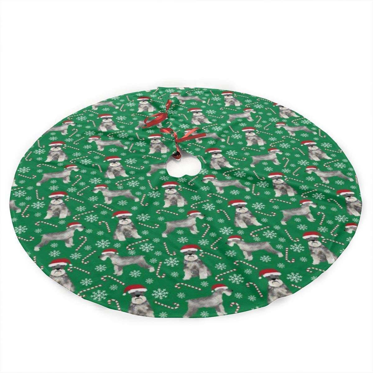 Boutique 9 Schnauzer Christmas Christmas Tree Skirts,Large Round Tassel Xmas Tree Skirt Mat for Christmas Decorations, Xmas Party Holiday Ornaments