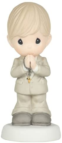Precious Moments May Gods Blessings Be with You On Your First Holy Communion Figurine, Boy