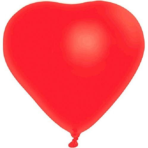 Amscan Party Decoration Valentine Heart Shaped Latex Balloons, 6 Ct. | 12