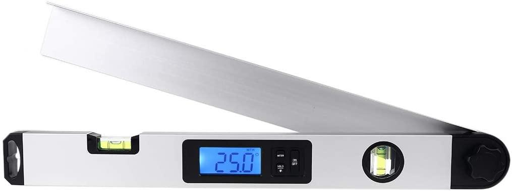 Pinhaijing Digital Angle Finder Electronic Protractor Angle Finder Level Measuring Gauge Meter inclinometer Ruler 0-230 Degree 400MM Metal Material
