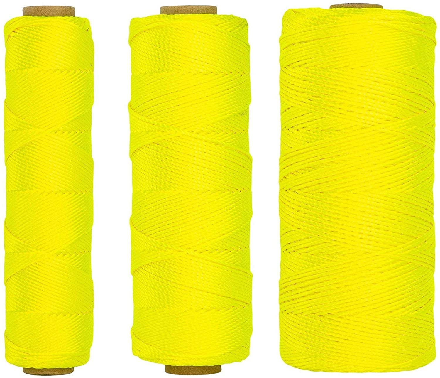 SGT KNOTS #18 Twisted Mason Line - Nylon Masonry String, DIY Projects, Crafting, Commercial, Gardening (24Case, 1100ft, White)
