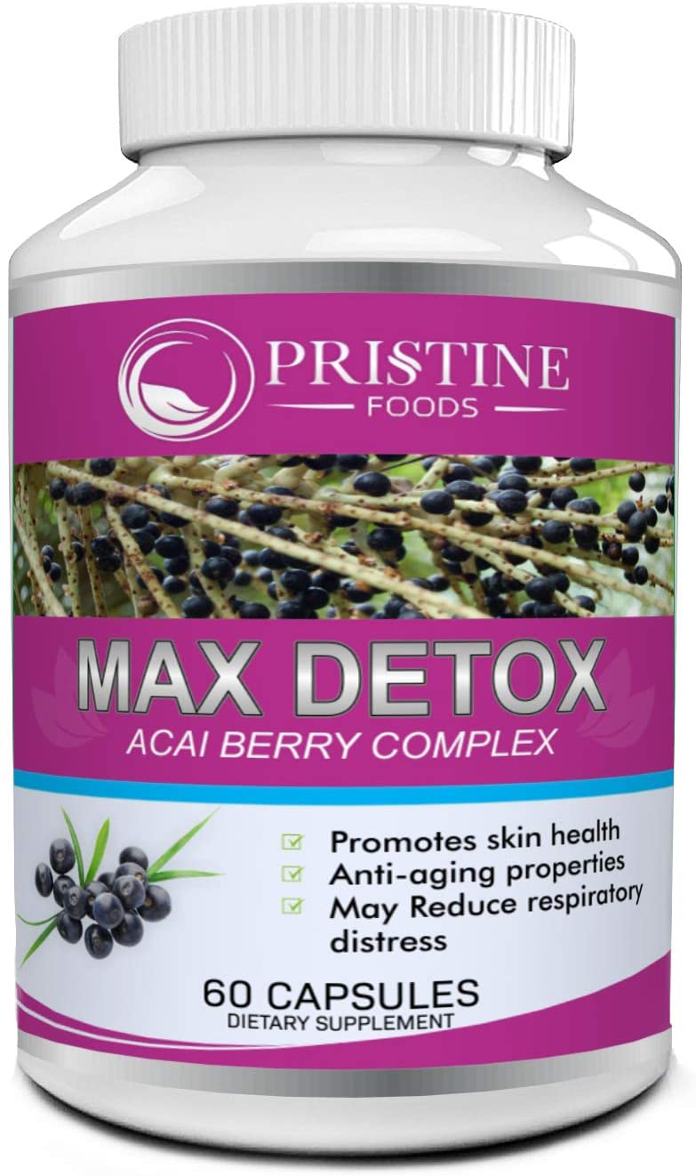 Pristine Foods Max Detox Colon Cleanse Weight Loss Pills for Women Colon Cleanser and Detox Diet Pills with Probiotics for Constipation Relief Body Cleanse Weightloss Pills with Psyllium Husk 60 Caps