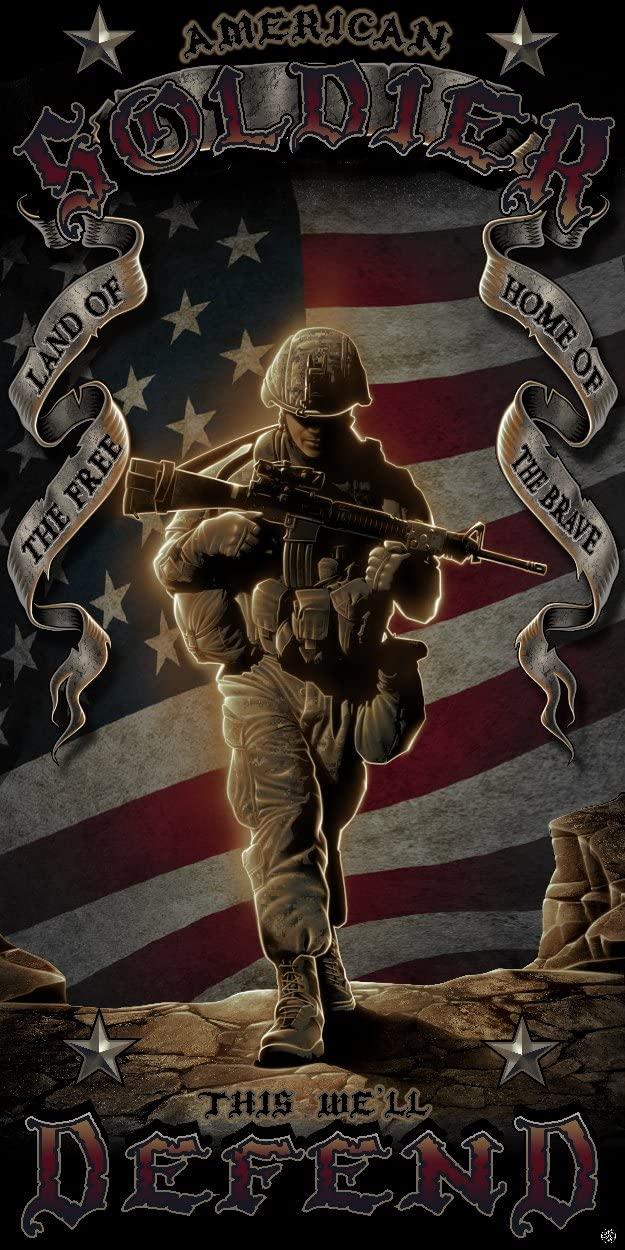 Erazor Bits American Soldier TowelsPool and BeachExtra Soft 100% Cotton