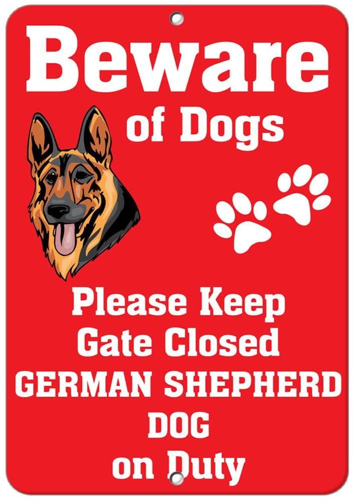 German Shepherd Dog Dog Beware of Fun Novelty SignVinyl Sticker Decal 8