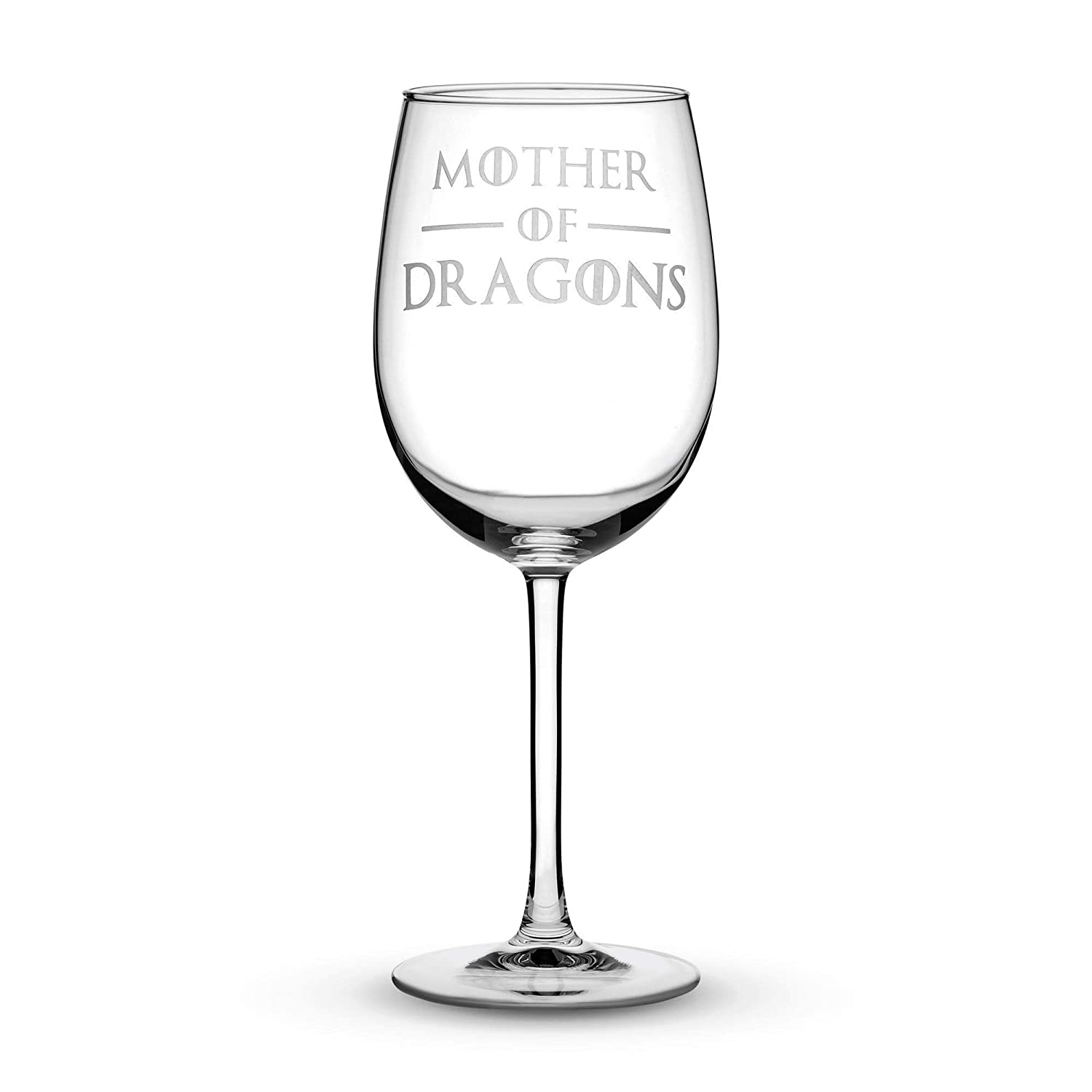 Integrity Bottles Premium Game of Thrones Wine Glass with Stem, Mother of Dragons, Hand Etched 15.4 oz Tulip Gift Glasses, Made in USA, Sand Carved by Integrity Bottles