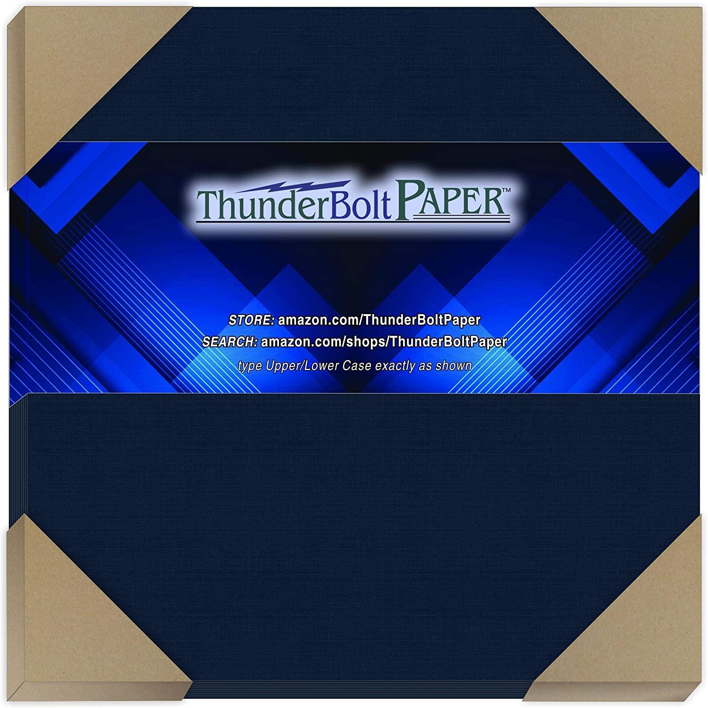 75 Dark Navy Blue Linen 80# Cover Paper Sheets - 6