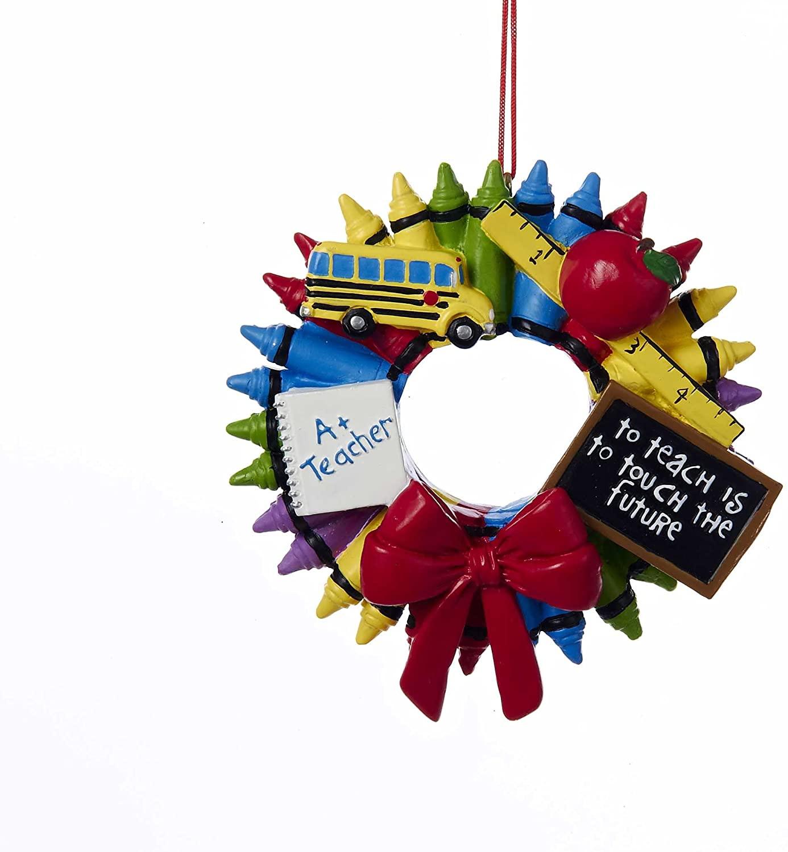 Teacher Crayon Wreath Ornament by Kurt Adler