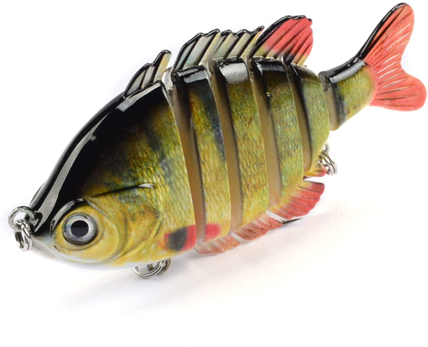 Fishing Lures Lifelike Bass Lures Swimfish Multi Jointed Panfish Bluegill Swimbaits Hard Topwater Bass Lures Fishing Lure Crank Saltwater 3.5in/0.9oz