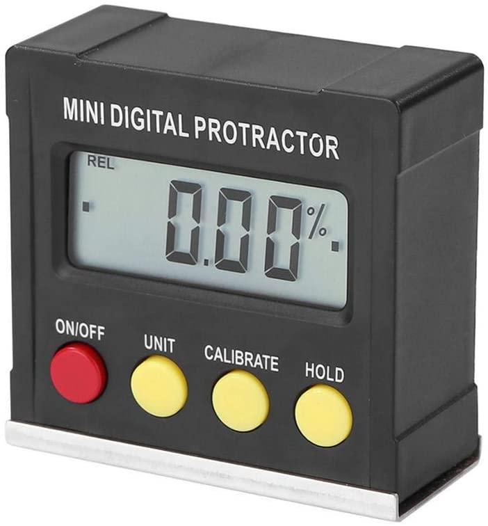 settencas Horizontal Protractor Digital Electronic Protractor Magnetic Base Spirit Level Measuring Tool