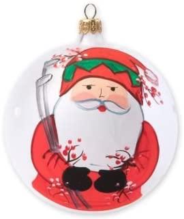 Vietri Old St. Nick Christmas Ball Ornament, Golfing Santa