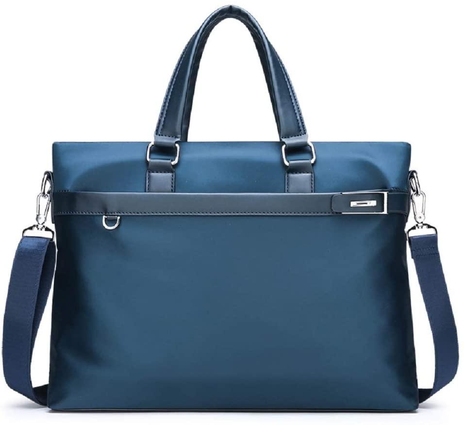 JIUFENG Men's Laptop Briefcase Top Handle Business Bag Casual Crossbody Shoulder Bag for Work Travel Outdoor (Top Handle - Blue)