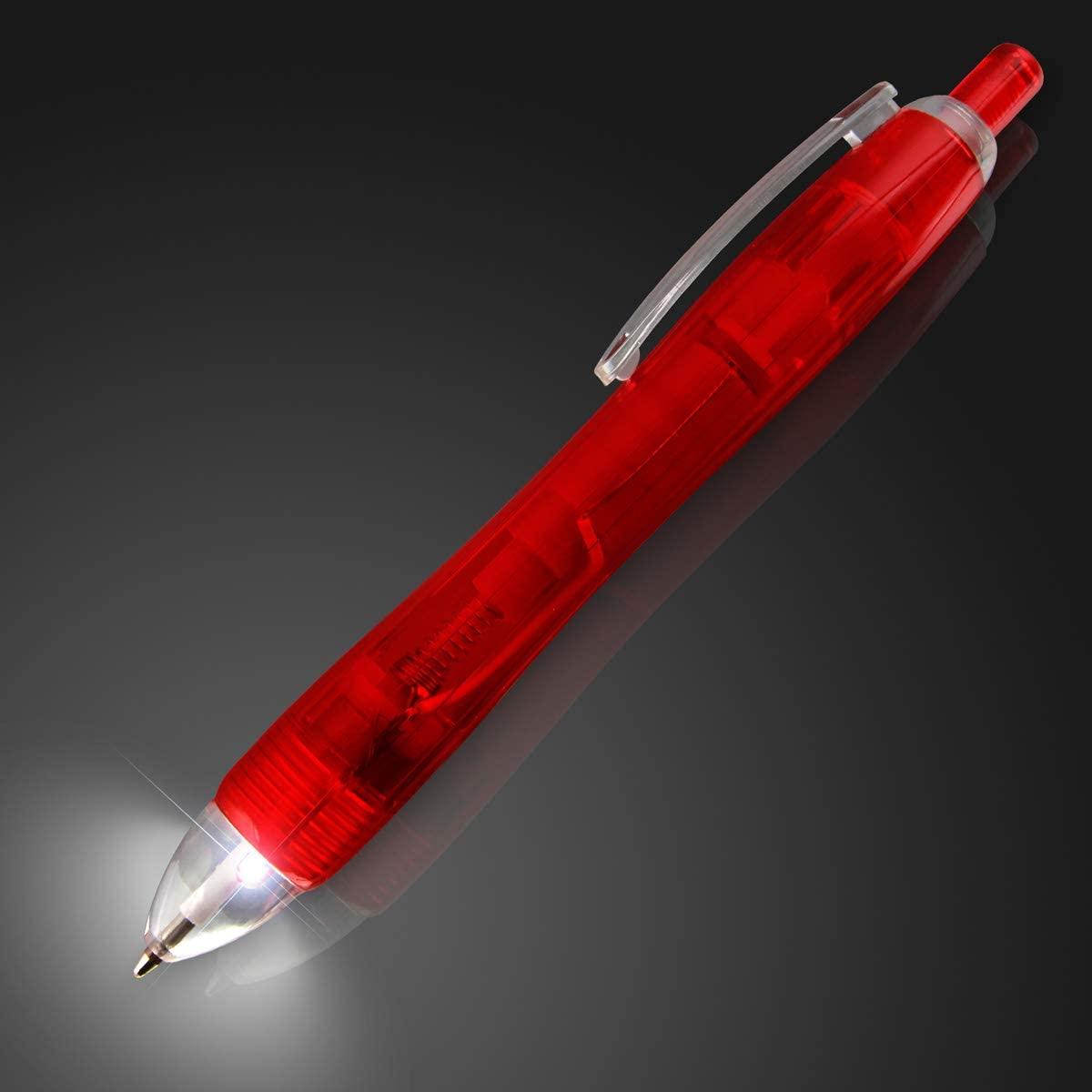 Red Light Tip Pen with White LED