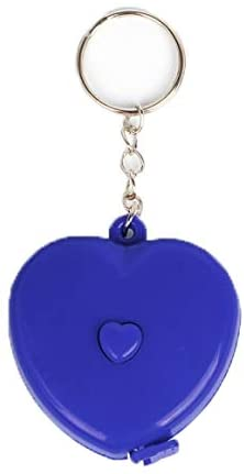 60 inches Tape Measure for Body Measurements Heart Shape Retractable Dual Sided Inch and Centimeter Keychain 150 cm Blue TPPR51445