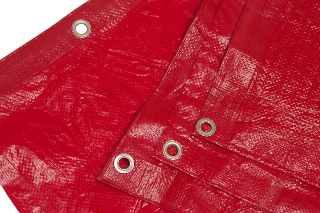 16 Ft. X 20 Ft. High Visibility RED Tarp - 3.3 Oz.