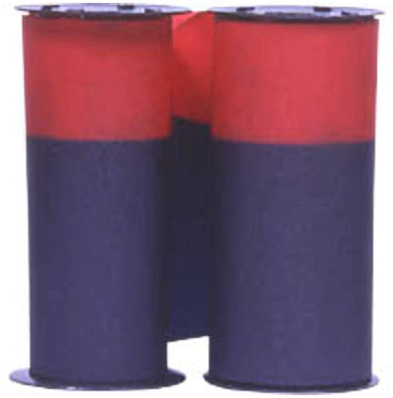 (2 Pack) Ribbon for Acroprint 125 and 150 Time Recorders, Blue/Red Ink