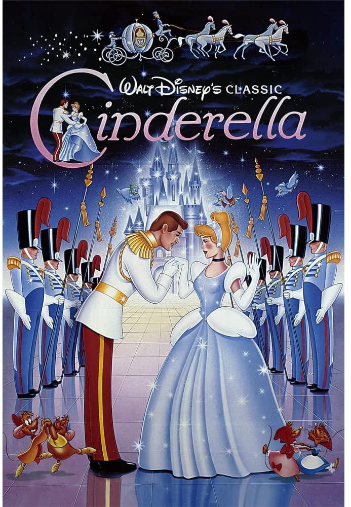 Disney Cinderella Vintage Art Series 3D Lenticular Card/Disney 3D Postcard