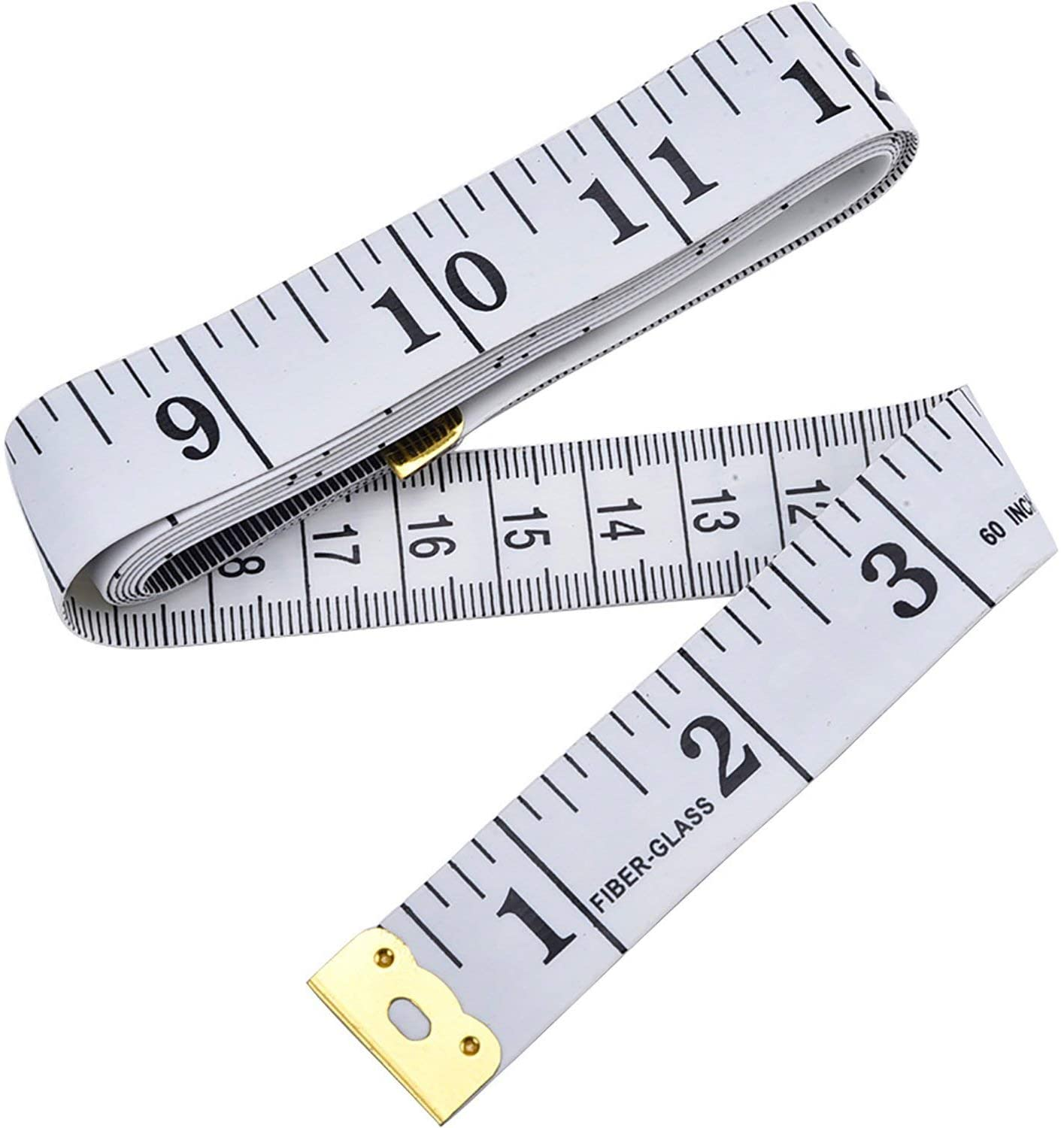 Dual Sided Body Measuring Ruler Sewing Cloth Tailor Tape Soft Tape for Family Measure Chest/Waist Circumference, 60inch/150cm White