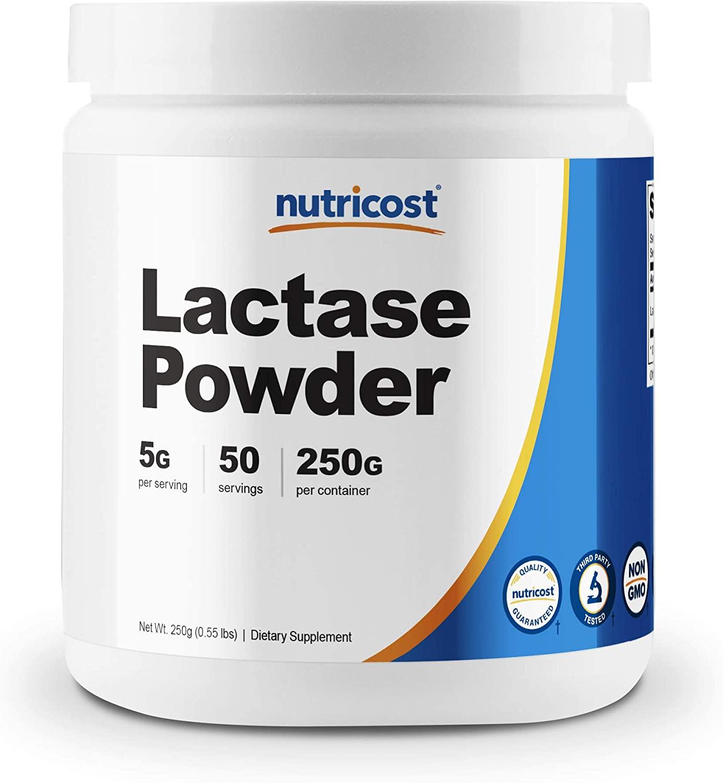 Nutricost Lactase Powder 250 Grams - Pure, Non-GMO, Gluten Free, Premium Lactase Powder