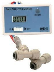 HM Digital DM-1 In-Line Dual TDS Monitor for In / Out Water Lines-- (Package ...