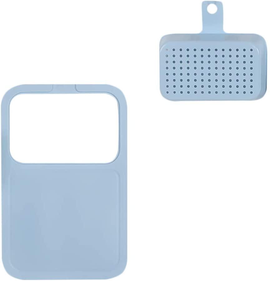 Cabilock Plastic Cutting Board Countertop Chopping Block with Drain Basket Kitchen Cutting Board for Bar Home Kitchen