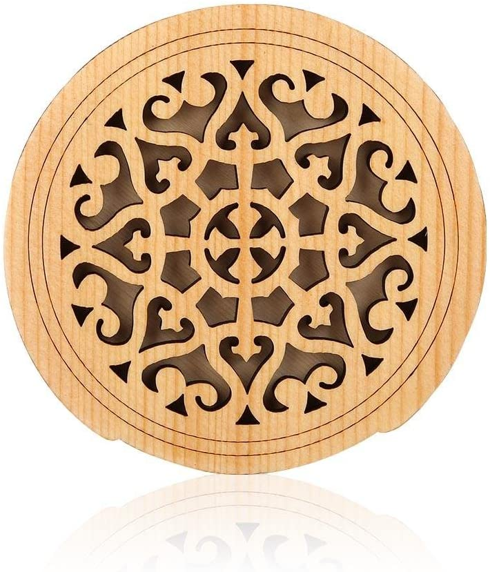 Wooden Guitar Soundhole Sound Hole Cover Guitar Block Protector Cover Made of Wood and Sponge for Acoustic Classic Guitar 41 Inch(Window grille)