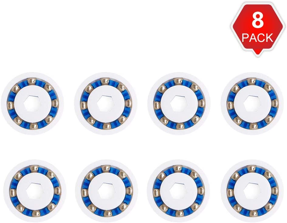 AMI PARTS Wheel Ball Bearings 9-100-1108 Replacement Part Compatible with Pressure Pool Cleaners 360 380 and 3900 Sport (8 Pack)