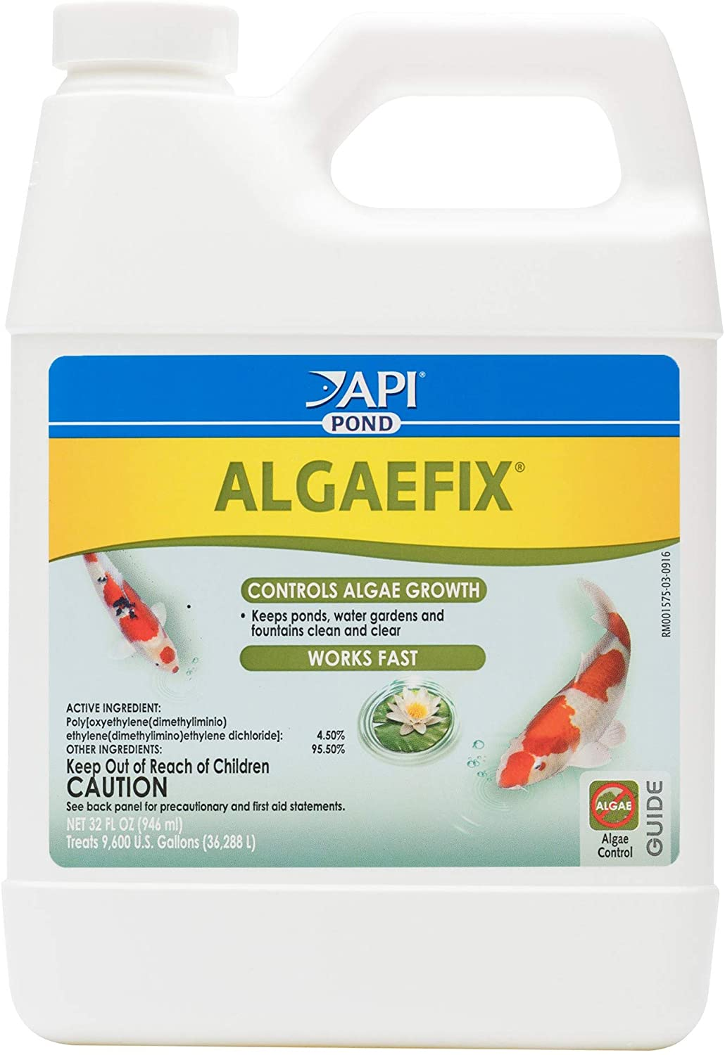 API POND ALGAEFIX Algae control, Effectively controls Green water algae, String or Hair algae and Blanketweed, Use as directed when algae blooms and as regular care