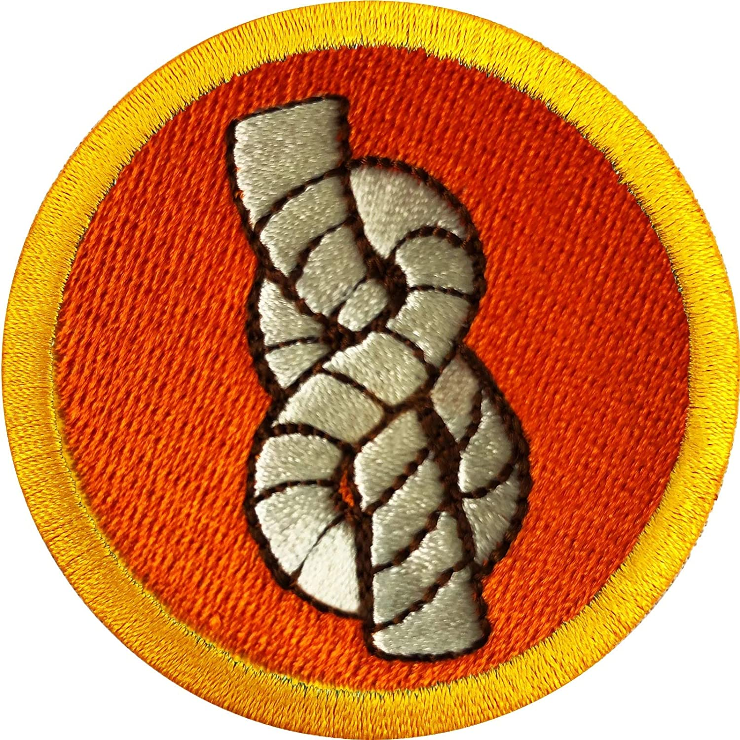 Knot Tying Wilderness Scouts Merit Badge Embroidered Iron on Patch