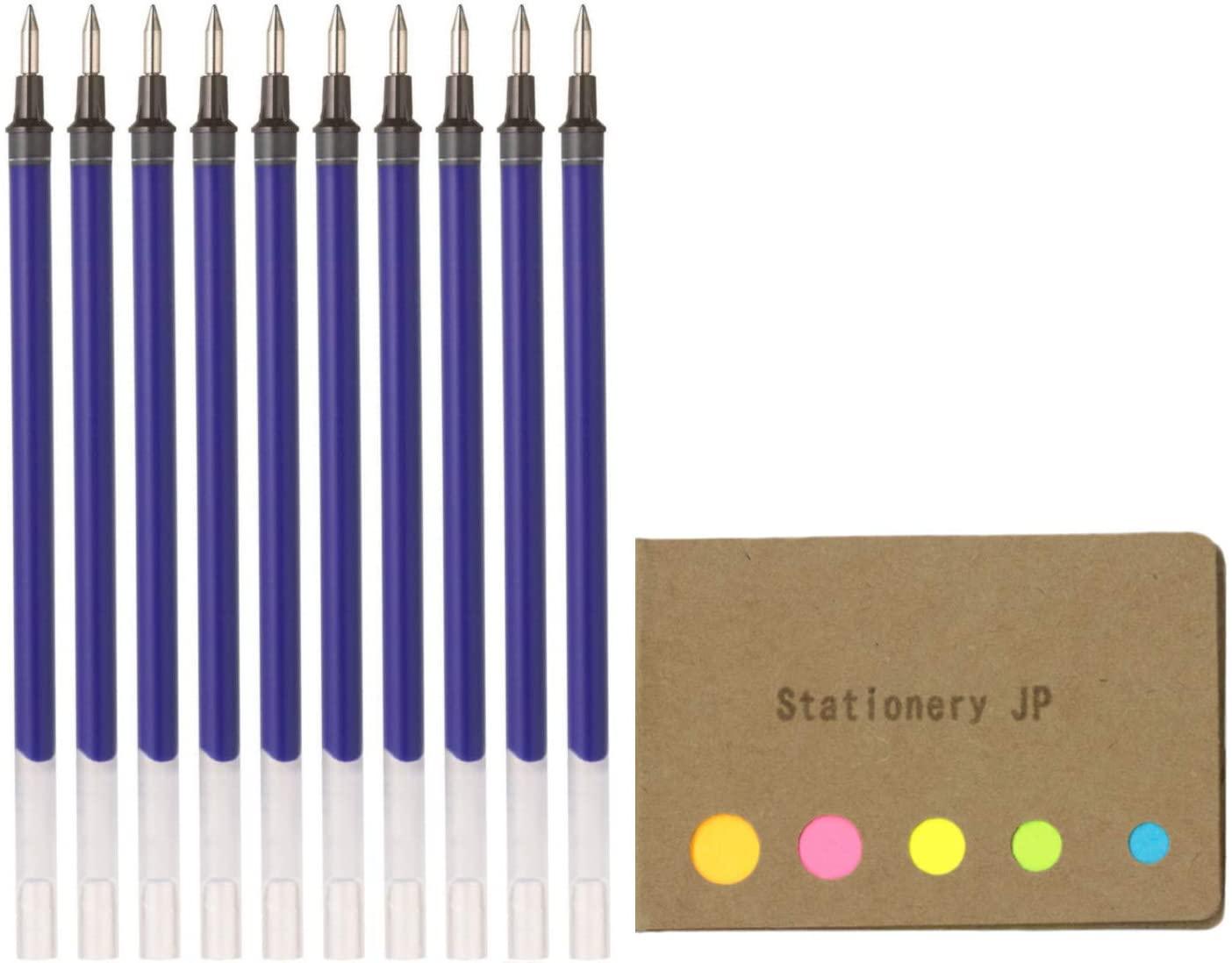 Uni-Ball UMR-1-05 Refills for Signo Gel Ink Ballpoint Pen, UM-151 DX, 0.5mm, Blue Ink, 10-Pack, Sticky Notes Value Set