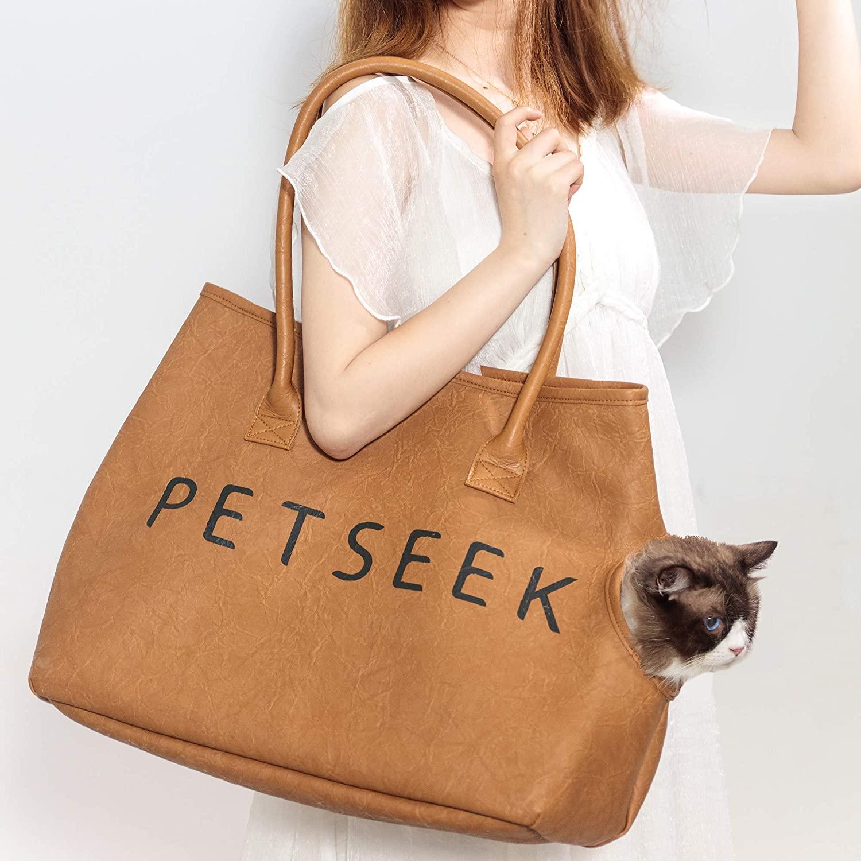 Petseek Fashion Dog Cat Pet Carrier Bags Travel Handbag