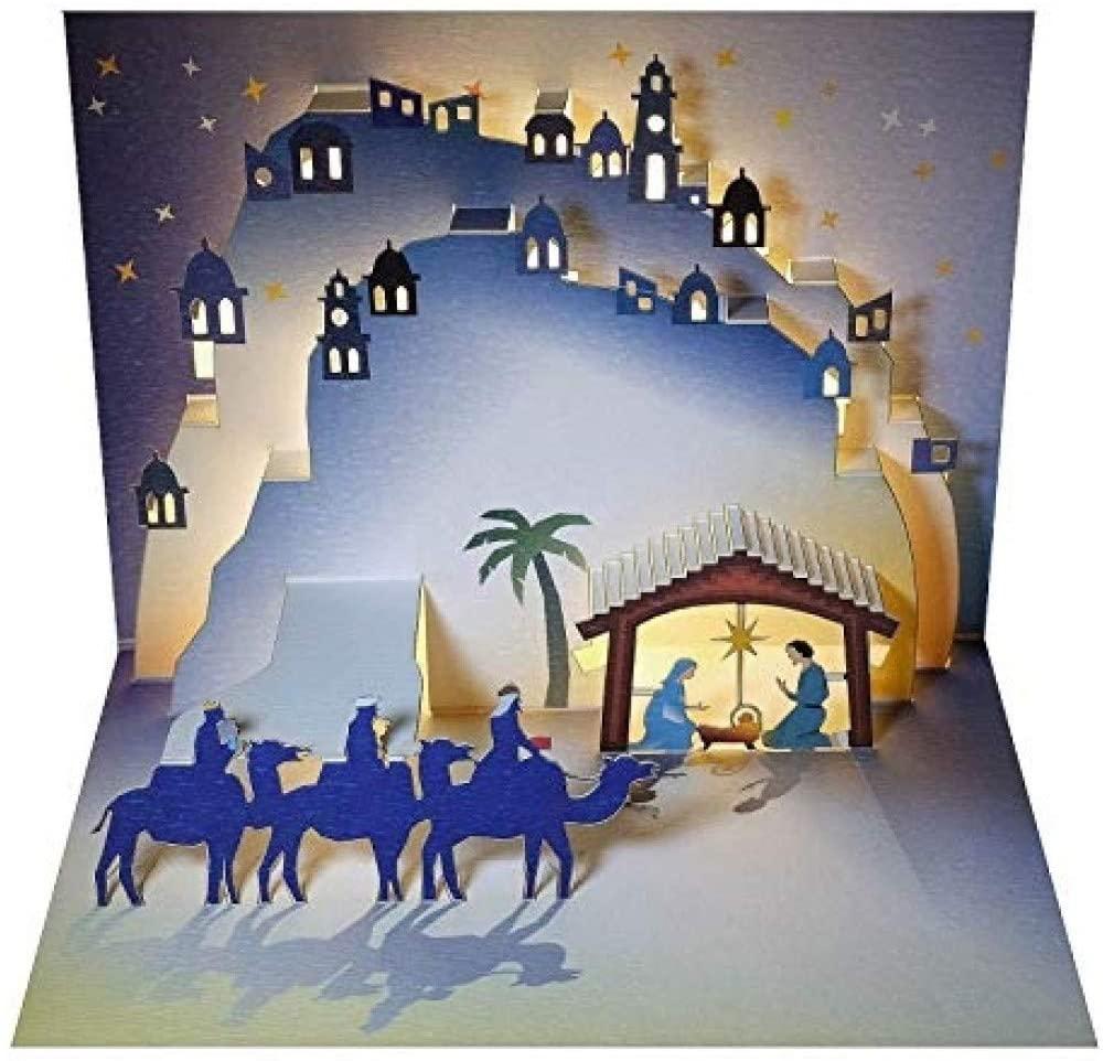Forever Handmade Cards Pop Ups POP109 - Christmas Nativity - Laser Pop Up Card