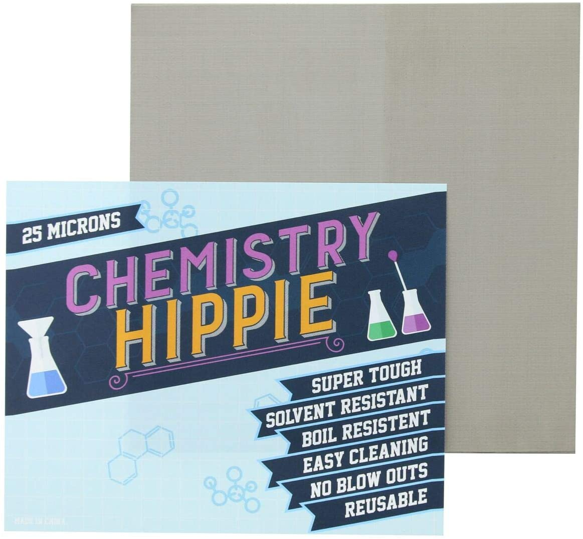 Chemistry Hippie | 6-pack Essential Oil Concentrate Filter | Ultra Strong 5x5 Inch Sheets | Micron Screens (25 micron stainless steel)