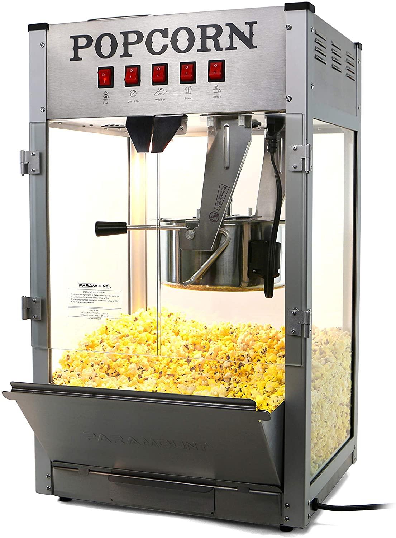 Paramount 16oz Popcorn Maker Machine - New 16 oz Hot Oil Commercial Popper [Color: Silver]